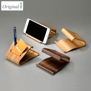 Patent Bentwood Wooden Mobile Phone Cellphone Name Card Stand Holder