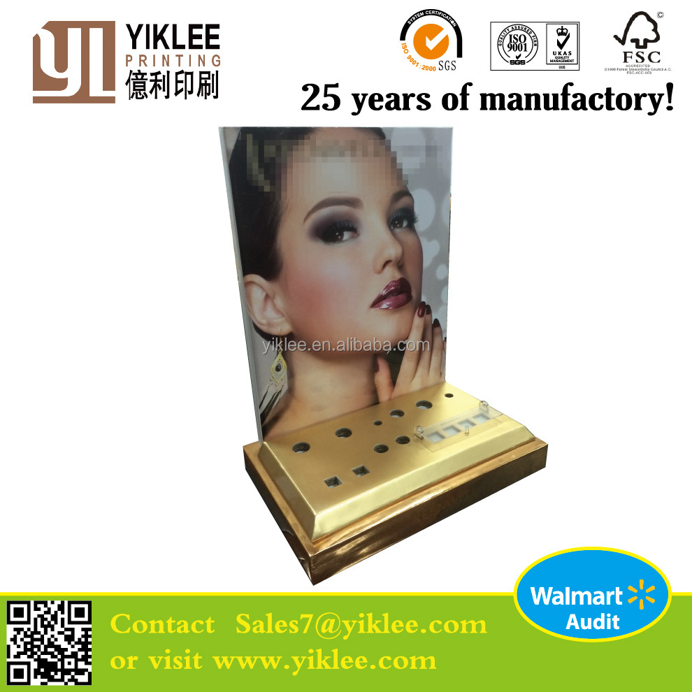 Retail cardboard makeup counter display boxes unit