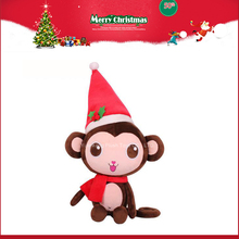 personalized christmas ornaments toy plush monkey