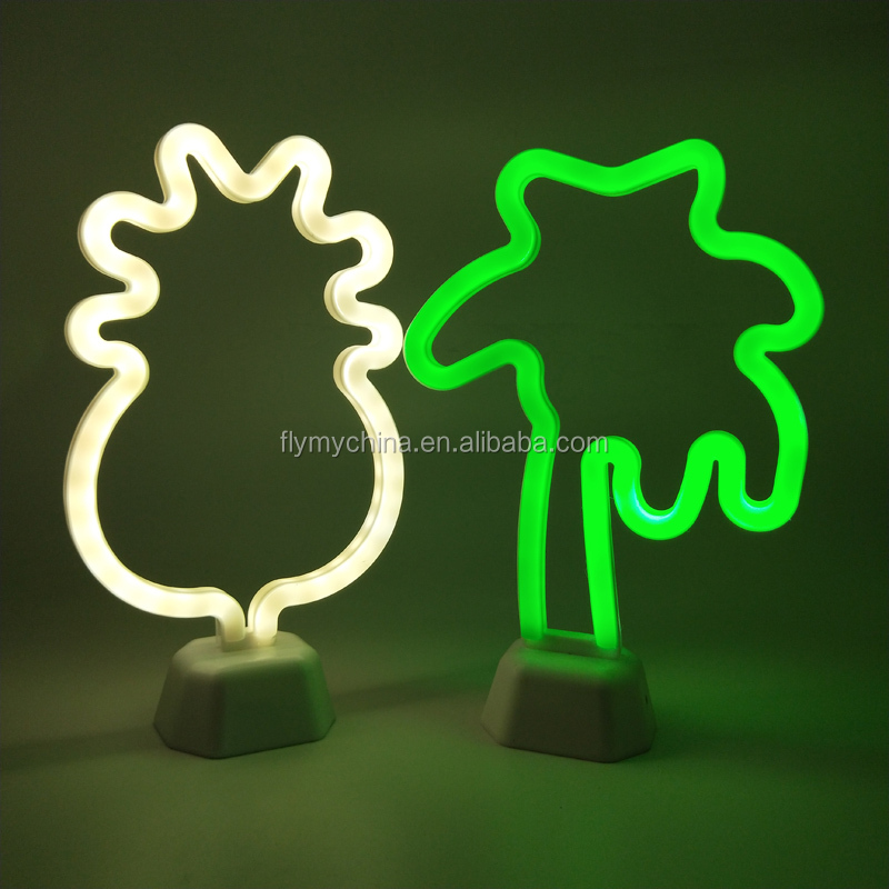 Indoor Illuminated Coconut Tree Neon Signs For Party Decoration