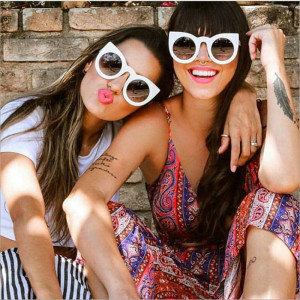 hot sale 97180 fashion style women's round frame cat eye fashion sunglasses in the us and Europe