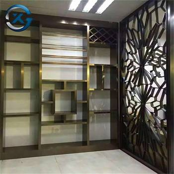 China manufacturer mirror finish room divider laser cut metal screen dividers