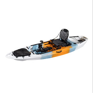 ECOCAMPOR China Camouflage Folding Clear Fishing Sea Ocean Single Canoe Jet Kayak With Pedals And Seat
