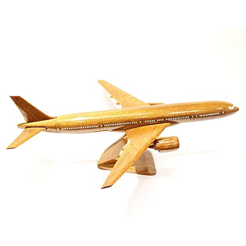 Boeing 777 Wooden airplane model (Big) for Aircraft Lovers, the Model Plane Includes Desk Stand