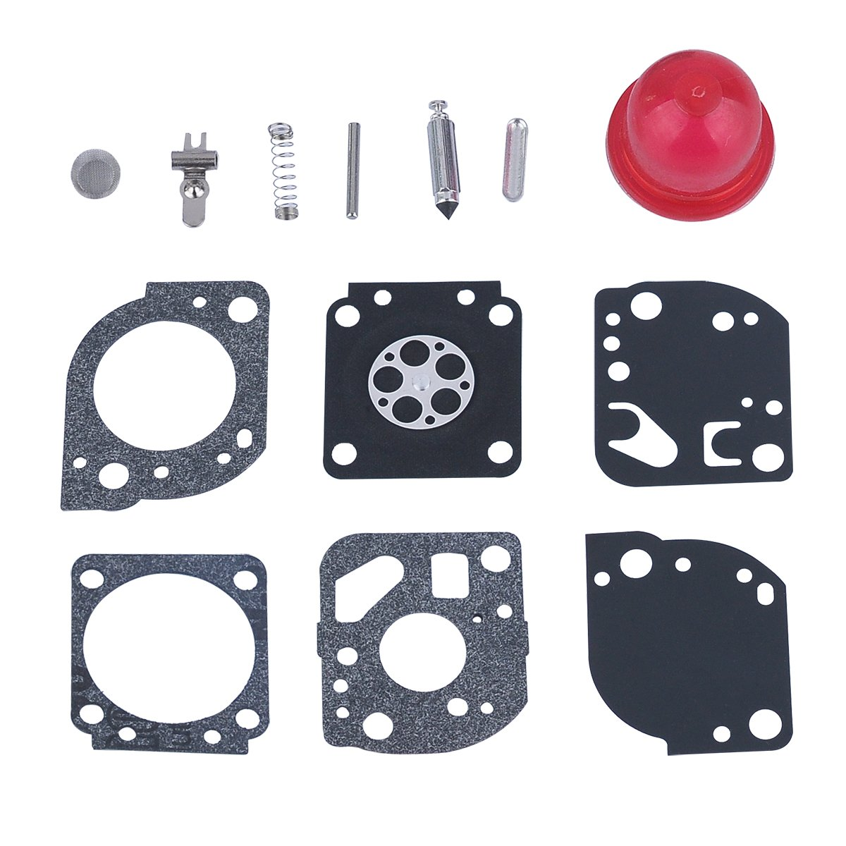 HIPA RB-117 Carburetor Repair Kits for ZAMA C1U-W19 Poulan Craftman 530071811 PP025 PP258TP PP25E PP325 SM705 P4500 P4500F Gas Trimmer