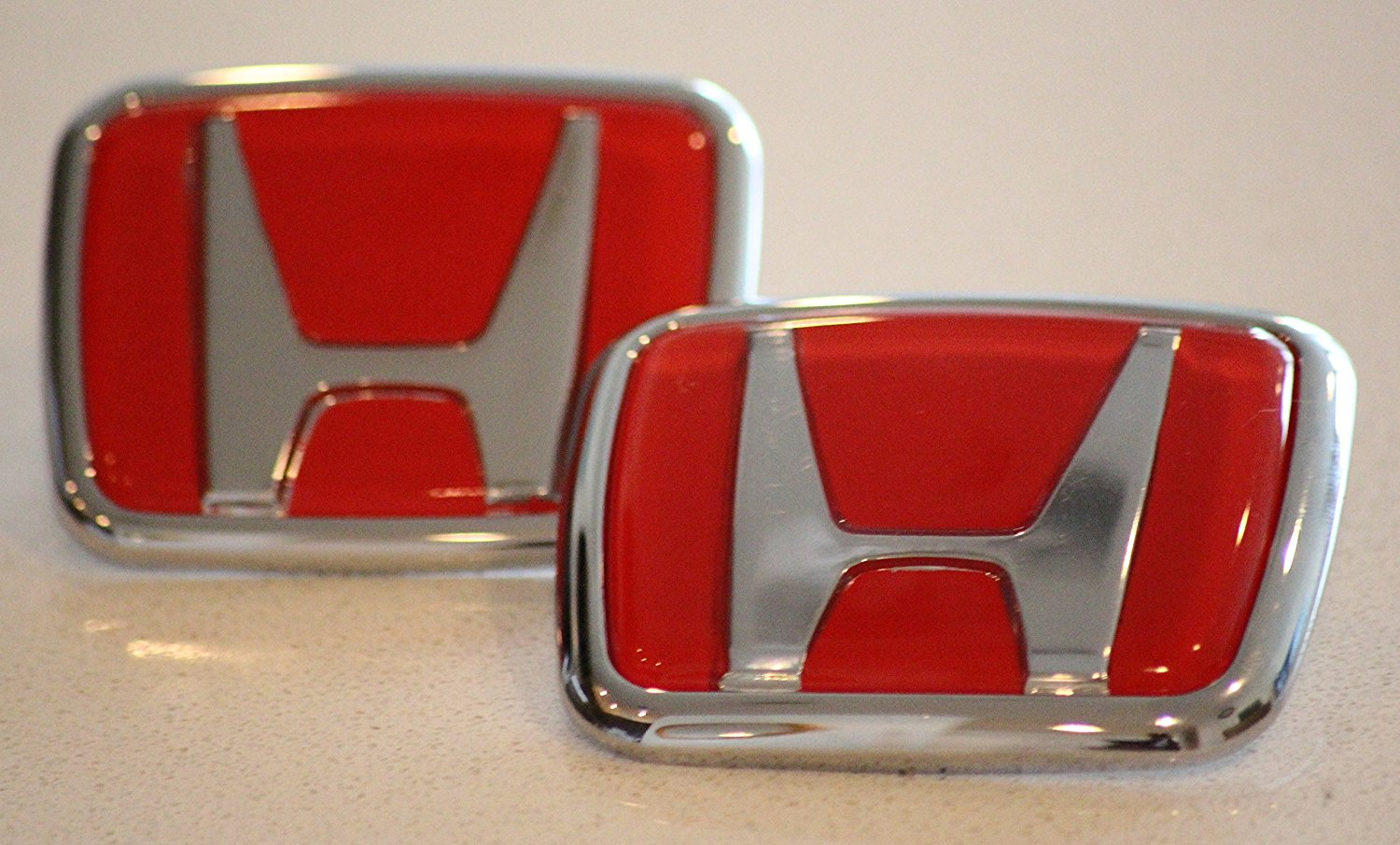 Quality Red Honda Type R Emblem Set JDM RED Front and Rear 1990 -0200 Accord Civic EK9 (Red)