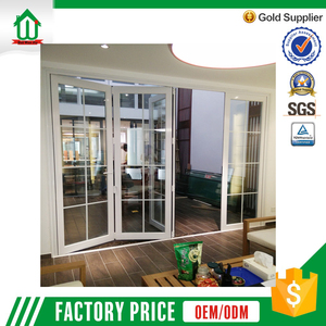 Hot sell promotional accordion glass door