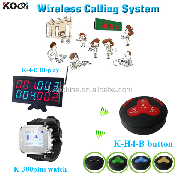 Safe Delivery Call Bell Show 4groups Number Screen For Restaurant Equipment K-4-D+K-300plus+K-H4-B Kitchen Order Display System