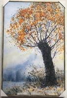 Autumn tree scene hand painted canvas art oil painting