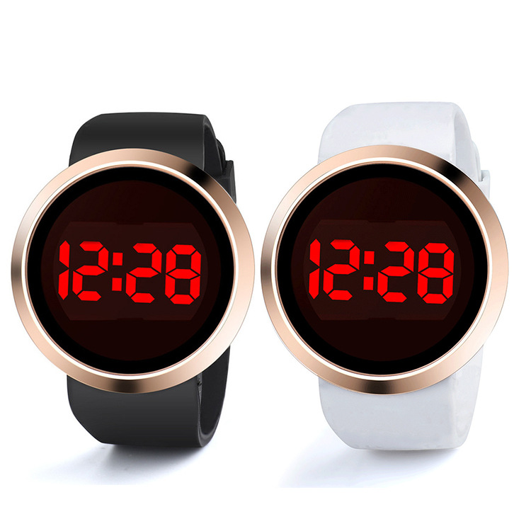 Classy clear digital watch for couple leisure couple watch Men and women fashion LED electronic watch