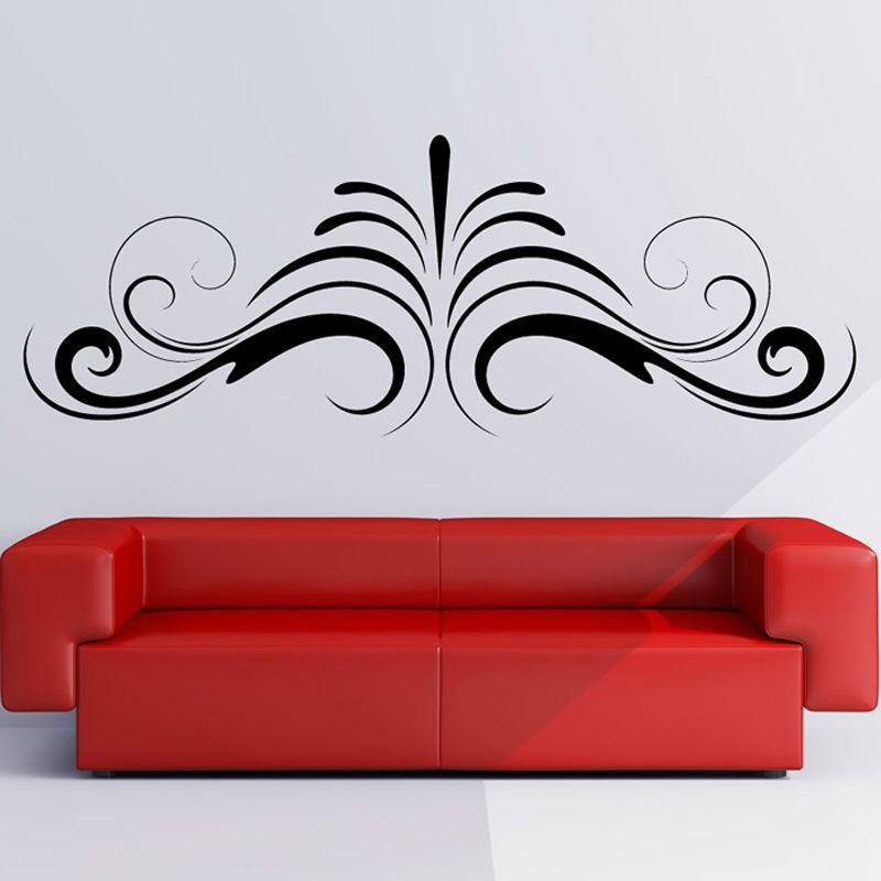 Symmetrical Simple Swirl Abstract Shape Sofa Background Home Decor DIY Waterproof Wall Sticker