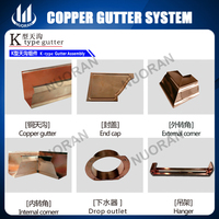 copper rain water gutter