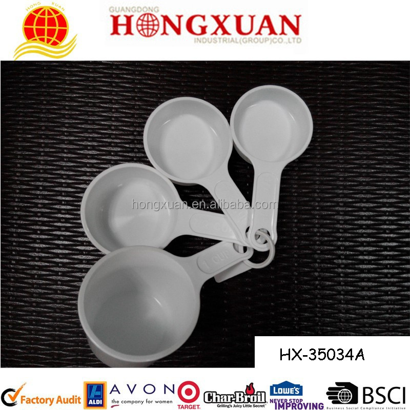 round shape plastic measuring cup / measuring spoon / measuring scoop