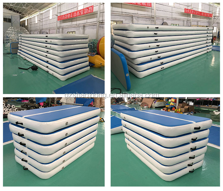 5m 6m 10m 12m  AirTrack Factory Tumble Track Inflatable Air Floor Gym Gymnastics Equipment Track Jumping Mat for Sale Gymnastics