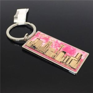 Factory Wholesale Price Stainless Steel Fashion Customs Metal Keychain