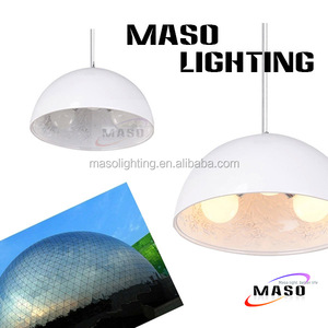 Hot Sale Modern home decorative hanging lamp made in china three bulb lamp shade fabric resin pendant lamp