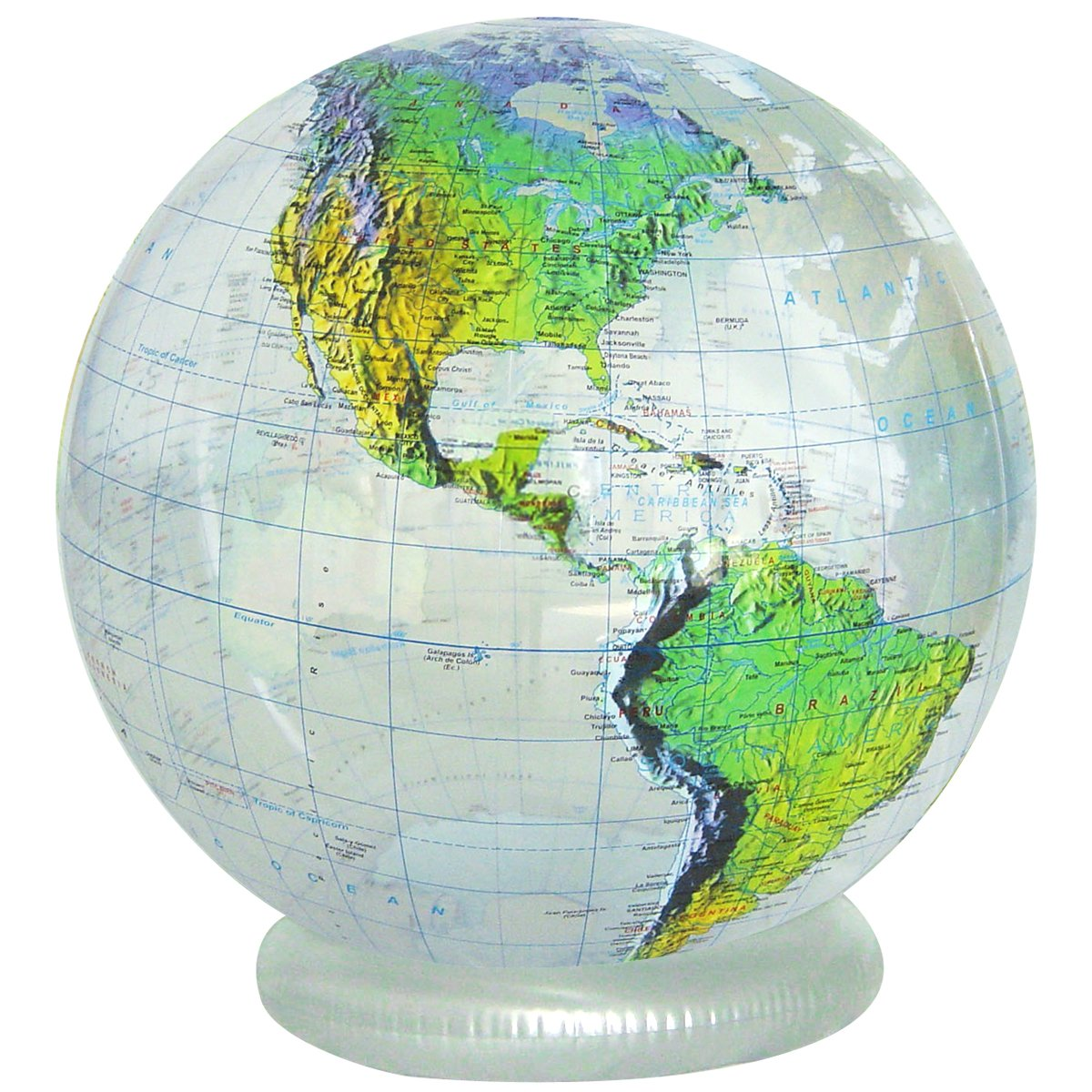 """Jet Creations 36"""" Clear Topographical Globe"""