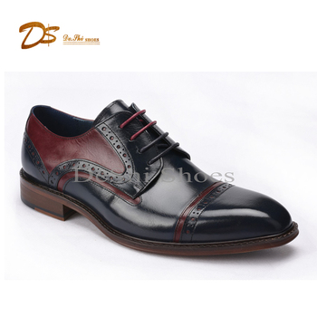 7cf04e400424f 2017 new style hand made italian genuine leather cap toe brogue men dress  shoes