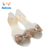 Jelly Dress Shoes Slip On Bling Soft Latest Design Sandals For Women And Ladies