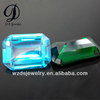 Wholesale Emerald Cut Rectangle Octagon Aquamarine & Emerald Lab Synthetic Cubic Zircon Stone Gems Loose Gemstone Beads Diamond