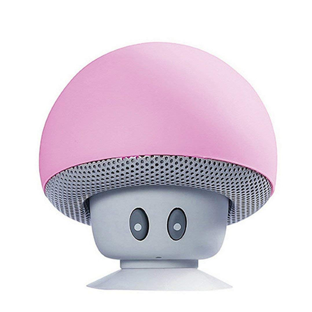 Academyus New Fashion Mini Mushroom Bluetooth Speaker Wireless Hands-Free - Pink