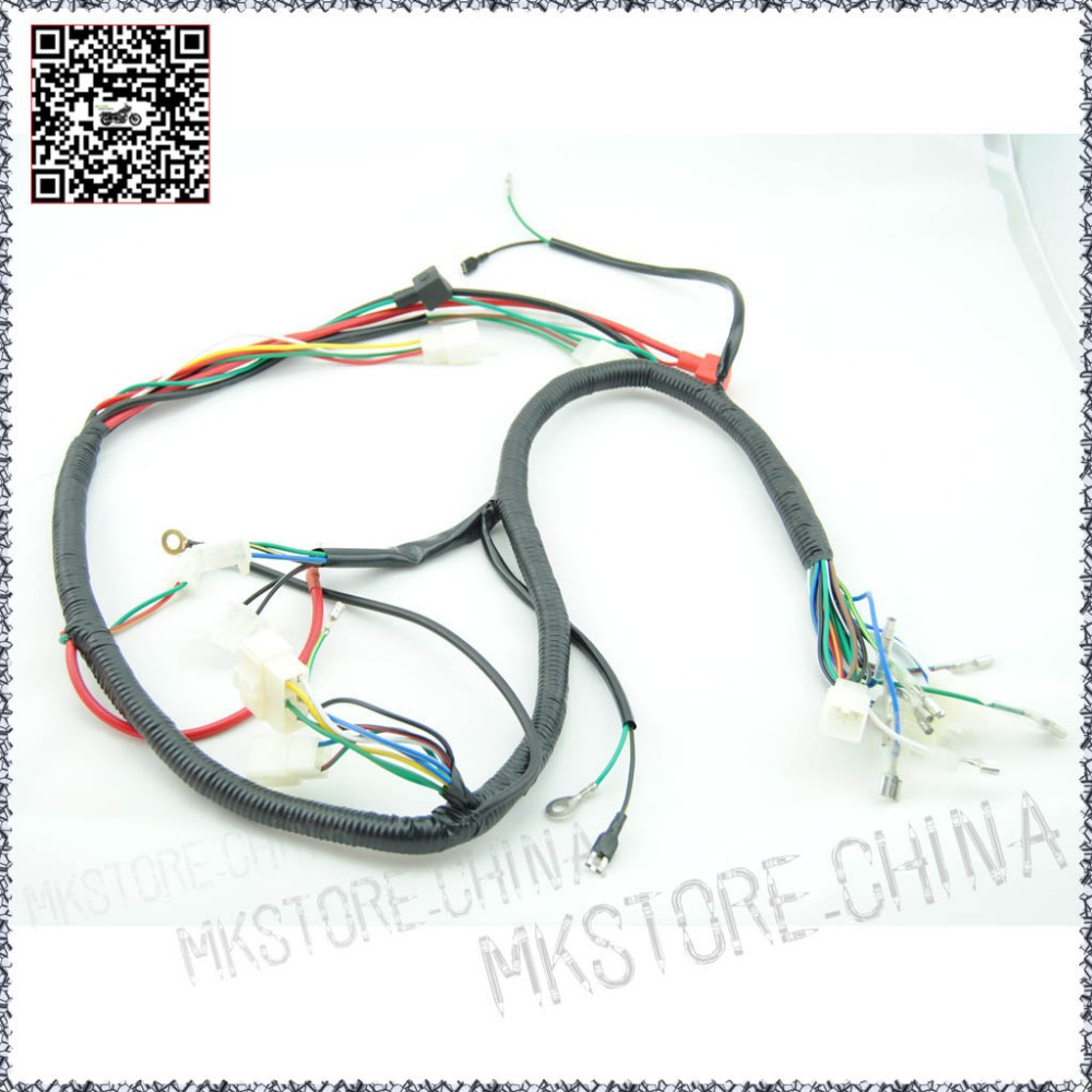 Quad Wiring Harness 200 250cc Chinese Electric Start Loncin Zongshen