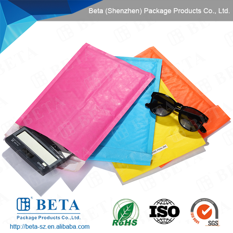 self-seal water-resistant secure package colored kraft bubble mailer