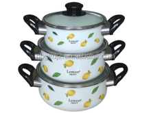 the most popular cookware in Korea enamel strait pot cheap price