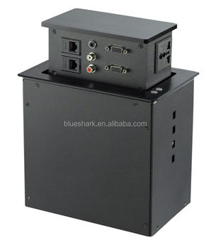 office furniture conference table top power plug socket box