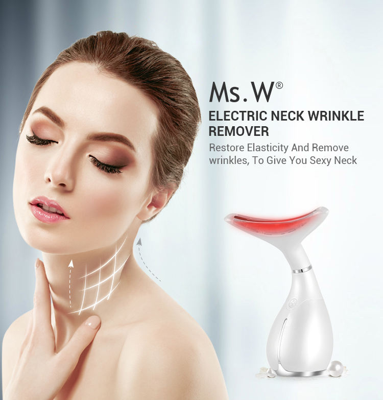 Remove neck wrinkles