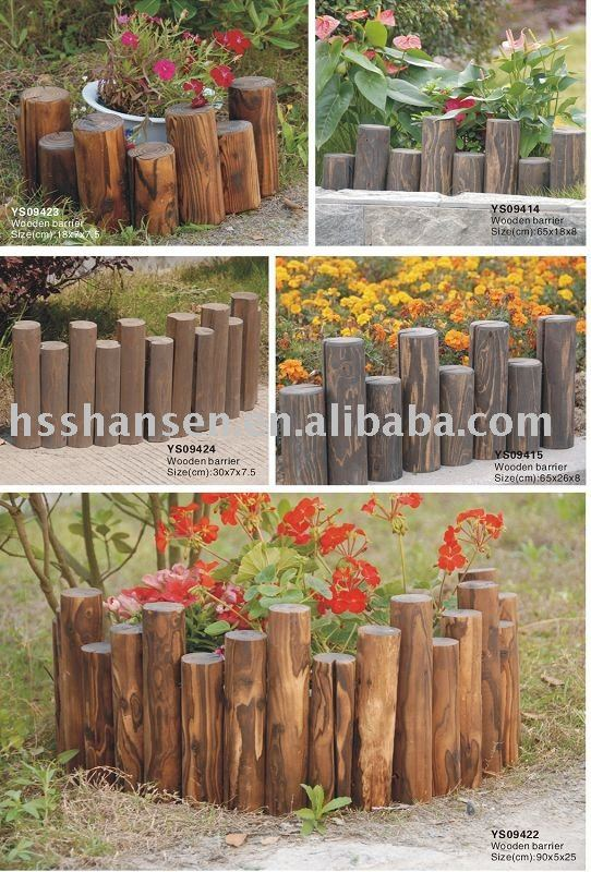 Cheap Outdoor Solid Wooden Garden Fence