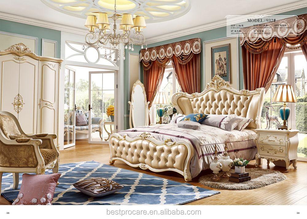 2017 Latest Design Luxury European Style Bedroom Furniture Sets ...