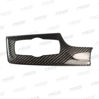 MOS Carbon Fiber Headlight Switch Frame Cover For BMW 5 Series