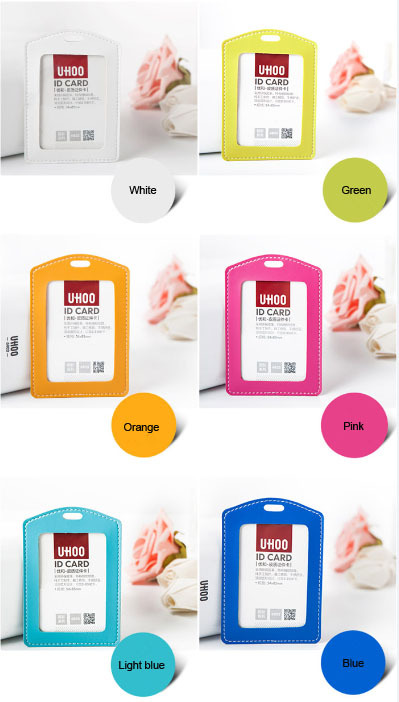 Pu material colorful leather id card holder
