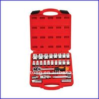 "26-Piece Ratchet and Metric Socket Set, 1/2""Drive socket tool kit"