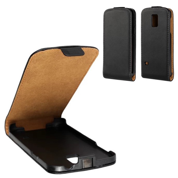 New arrival open up and down holster leather case for htc one m8 cover