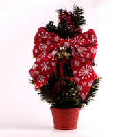 Christmas tree decorative jute ribbon burlap ribbon bow