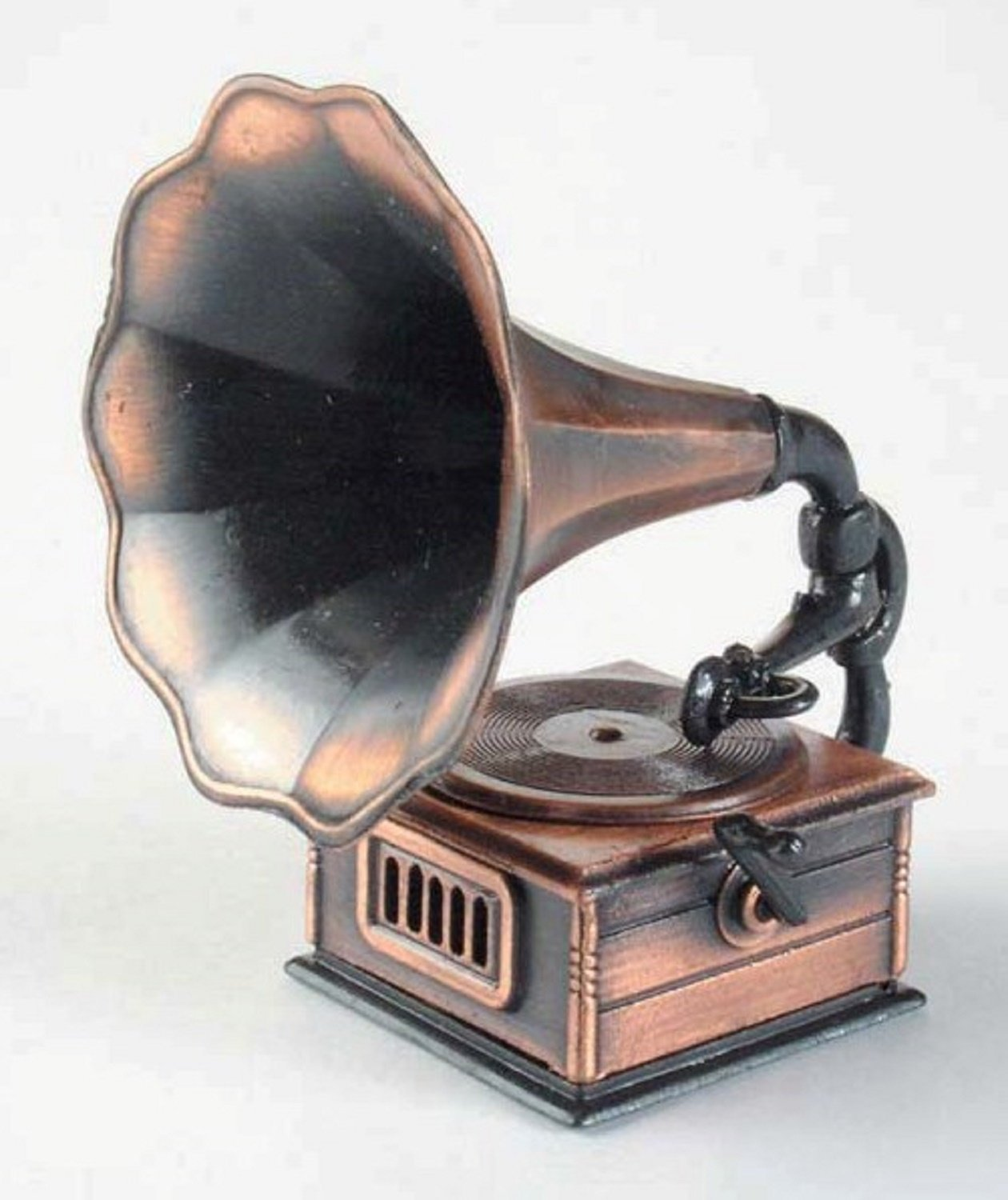 Old Time Gramophone Die Cast Metal Collectible Pencil Sharpener