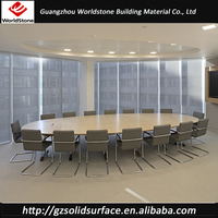 new modern marble meeting table oval shape conference table