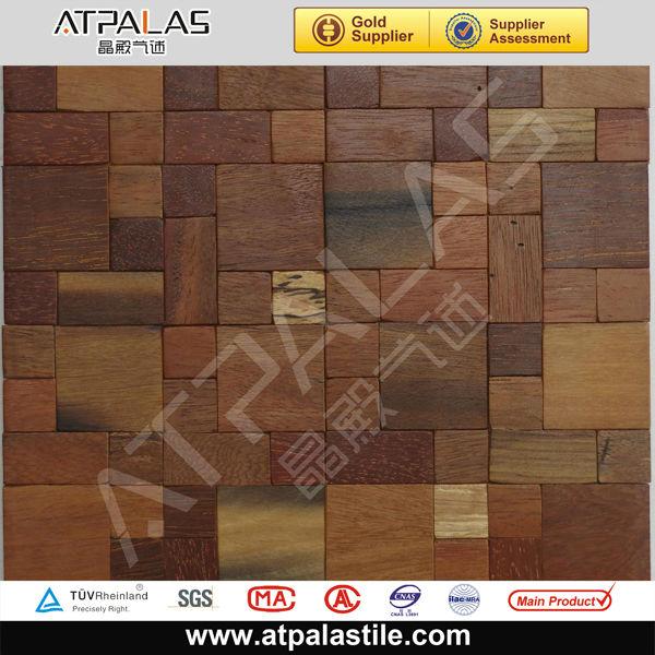 La pared exterior de madera decoradas mosaico mosaicos - Mosaico de madera ...