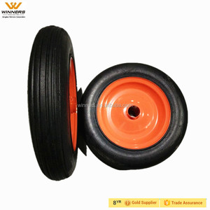 13x3 solid rubber powder tire wheels with steel rim