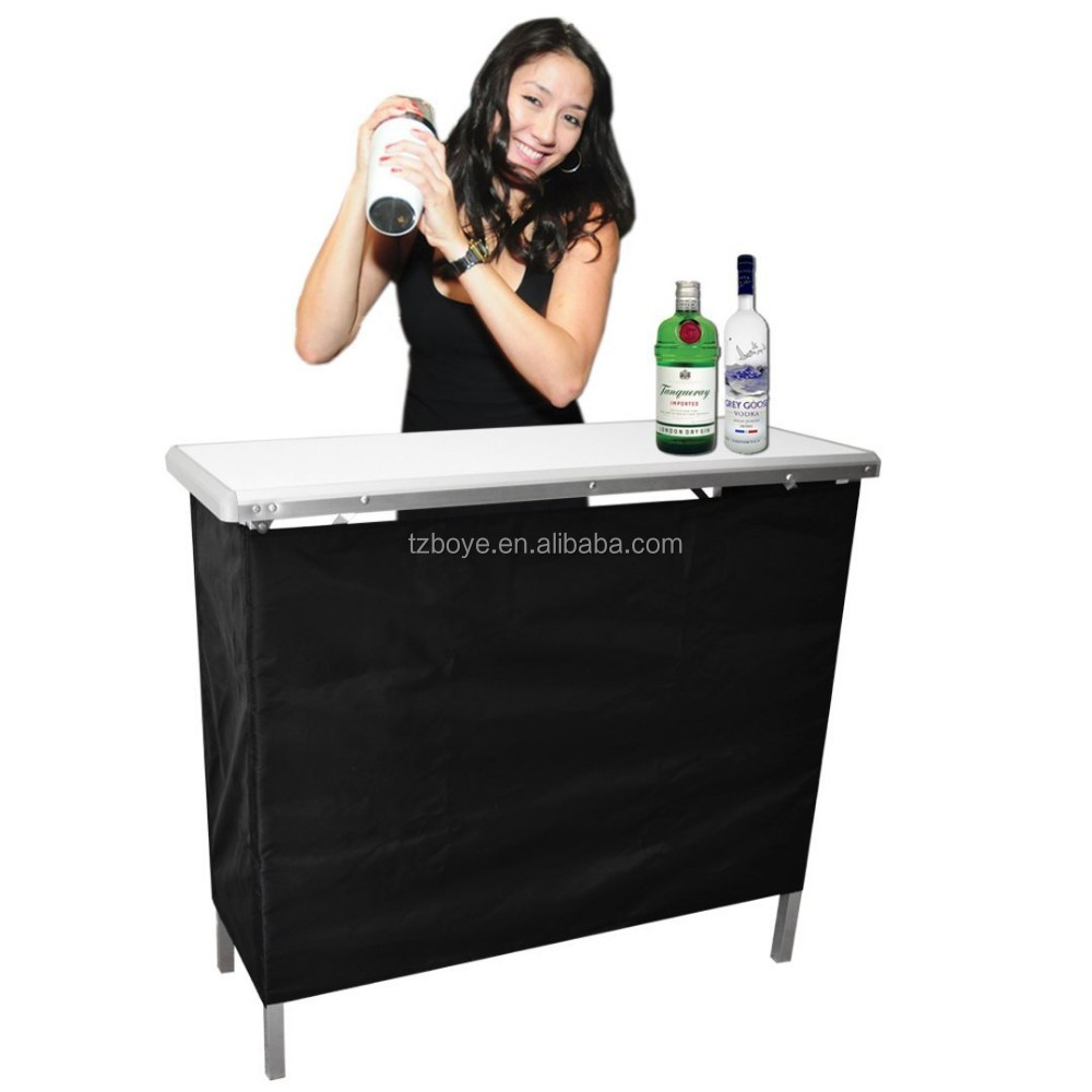 Portable high top party bar tableincludes 3 front skirts and portable high top party bar tableincludes 3 front skirts and carrying case buy high top bar tables and chairsfolding high bar tablesfolding table carry watchthetrailerfo