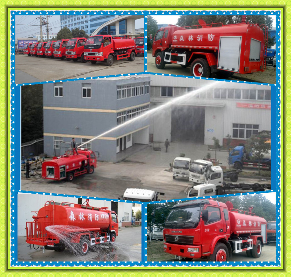 Quality Assurance Dongfeng XBW Water tank fire truck 4X2 MINI fire fighting truck working height sprinkler 50mters customize