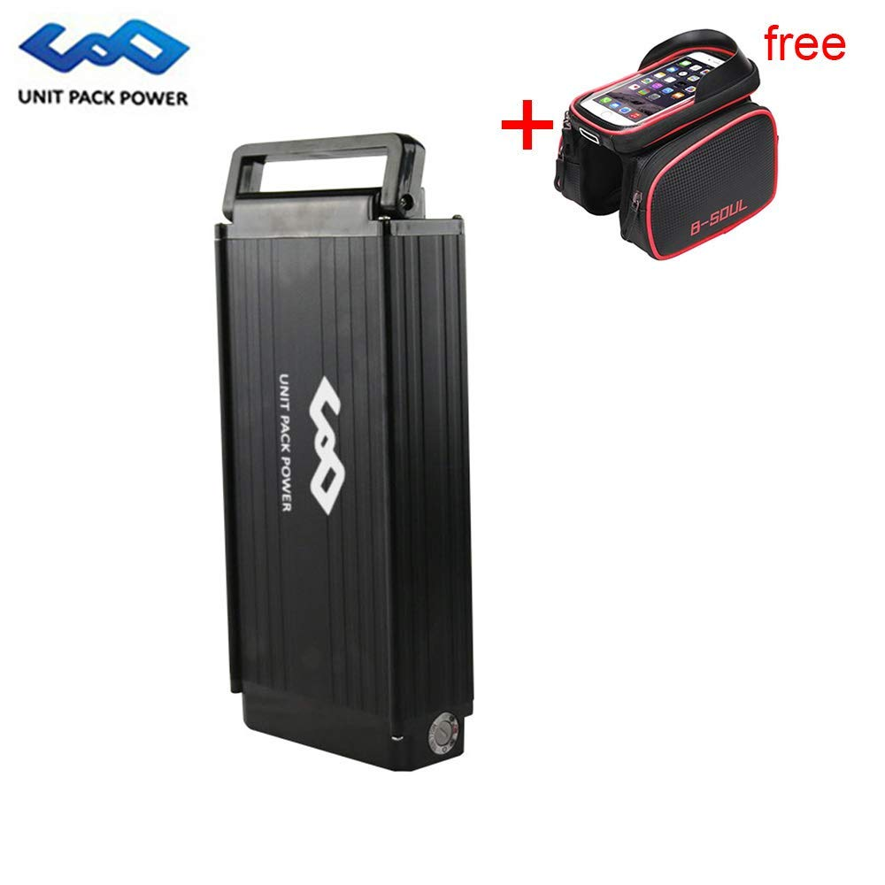 UnitPackPower 48V 14AH E-Bike Lithium ion Battery with Battery Handle for G2000mAH + 54.6V 2A Charger, fits 48V 750W/1000W Motor