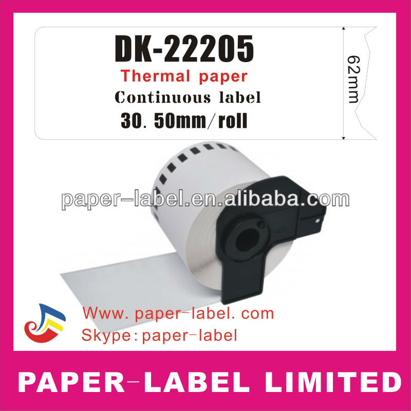 Brother Labels brother label DK-22205,DK-2205,DK-205 DK22205 DK2205 DK205 Direct Thermal Labels, QL Series Printers