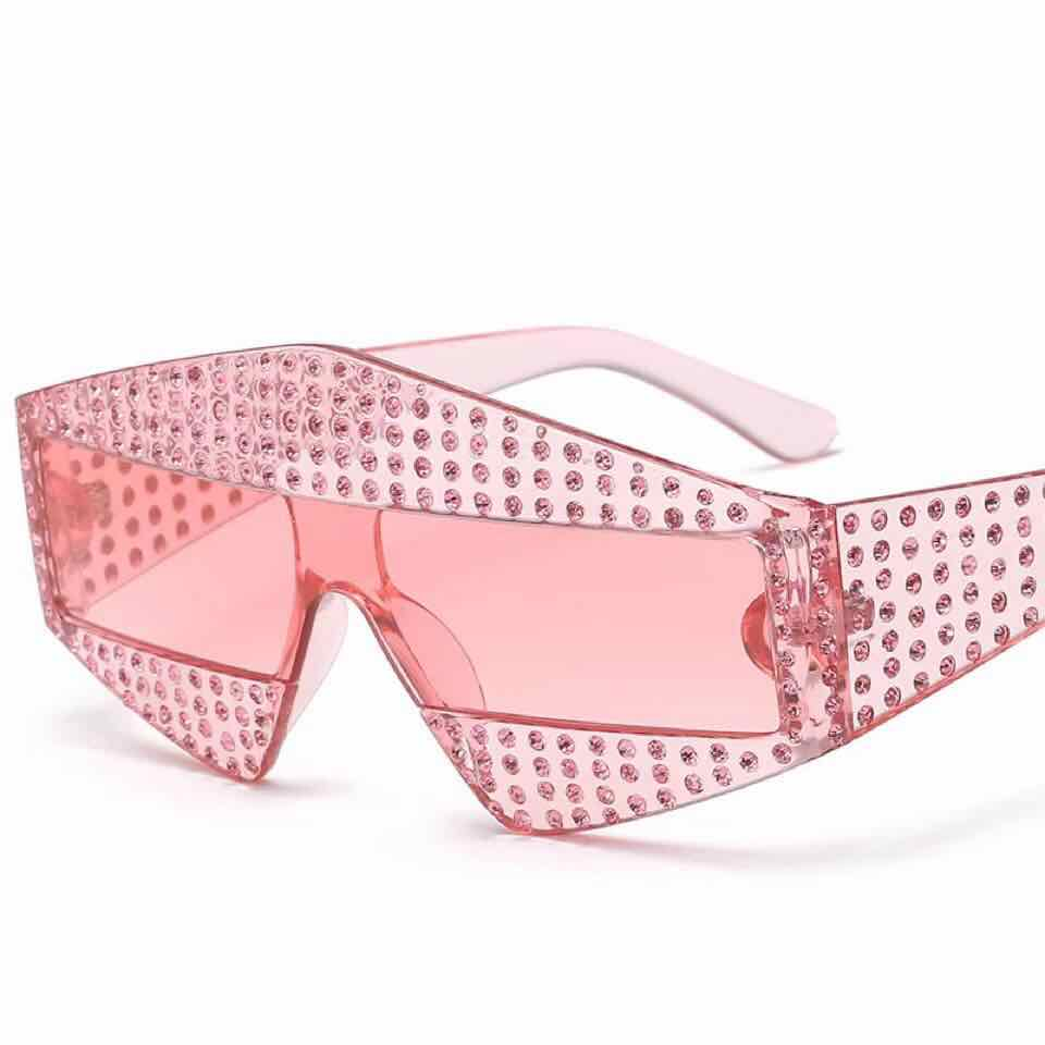 fashion Square Luxury Sunglasses women Brand Designer Ladies Oversized rhinestone Sunglasses
