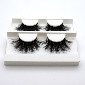 beauty Eye Lash Case Blink Flat Private Label 3D Wholesale Strip Volume Real Mink Lashes Custom Eyelash