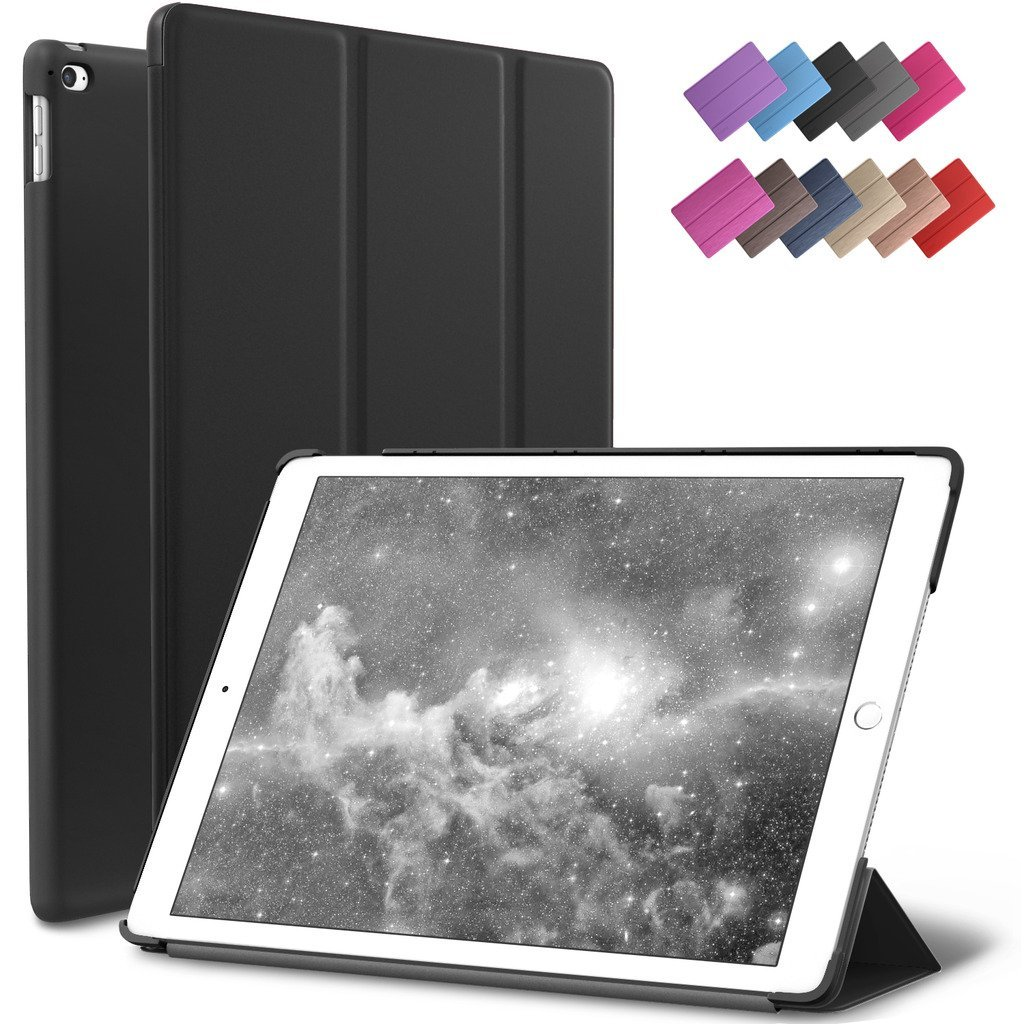 fa08f3220d7 Get Quotations · iPad Mini 4 Case, ROARTZ Black Slim Fit Smart Case Cover  with Auto Wake/