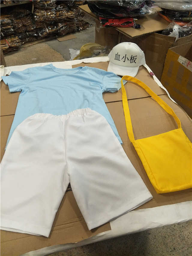 Cells at Work! Platelet Cosplay Costume T-shirt Hat Cap Bag Complete Set Lot