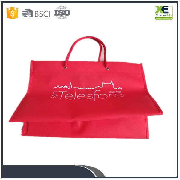 Printed non recycled woven polypropylene shopping bags wholesale promotional oem bag manufacturers red color or multi color